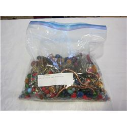 BAG OF BEADS AND NECKLACES