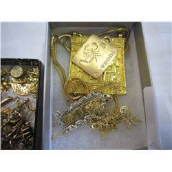 2 TRAYS SCRAP GOLD AND JEWELERY