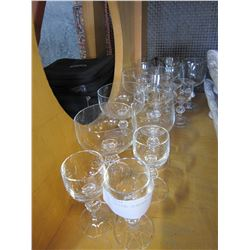 LOT OF BOHEMIAN CRYSTAL GLASSES, CLAUDIA PATTERN