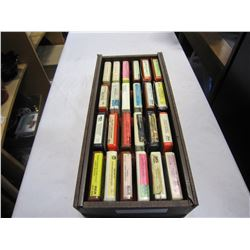 WOOD BOX 8 TRACK TAPES