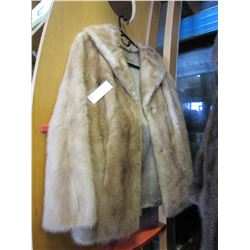 HERMAN SHORT TAN MINK FUR COAT