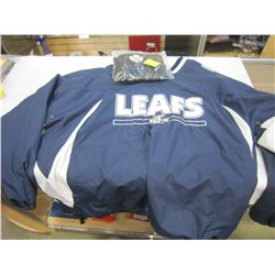 TORONTO MAPLE LEAFS NEW PULL OVER TYPE JACKET AND NEW TOQUE