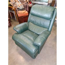 GREEN LAZY BOY LEATHER RECLINER