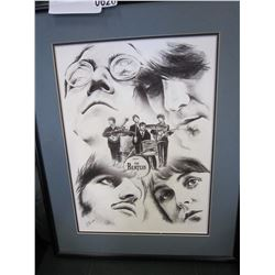 SIGNED BEATLES SKETCH PICTURE