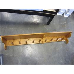 LARGE PINE COAT RACK