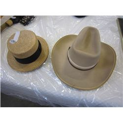 COWBOY HAT AND ITALIAN STRAW HAT