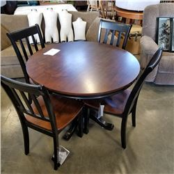 ASHLEY FLOOR MODEL ROUND DINING TABLE W/ 4 CHAIRS - RETAIL $1249