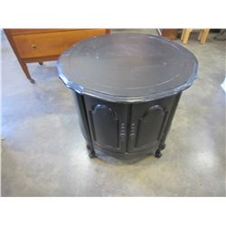 PAINTED ROUND ROSEWOOD 1 DOOR ENDTABLE