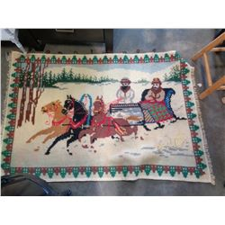 RUSSIAN HAND WOVEN HANGING WALL TAPESTRY