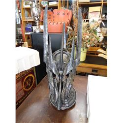 LORD OF THE RINGS WAR HELM OF SAURON ACTOR SCALE LIMITED EDITION OF 1500