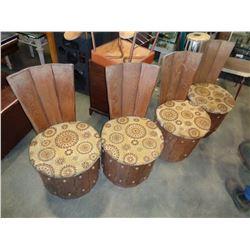 MID CENTURY BARRELL SEATS