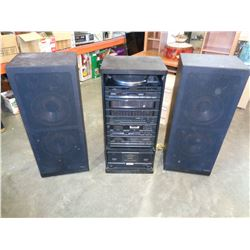 PAIR OF LARGE SHARP CP-7700 SPEAKERS & SHARP 7700CD SYSTEM