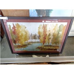 FRAMED PRINT ABSTRACT FOREST