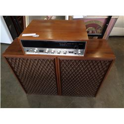 SANSUI 5000X STEREO W/ PAIR OF SANSUI 5500X SPEAKERS