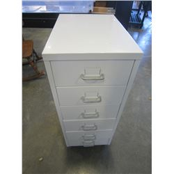 ROLLING 6 DRAWER METAL CABINET