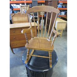 OAK KIDS ROCKING CHAIR