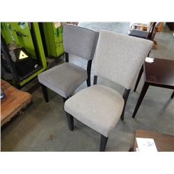 2 MODERN ASHLEY UPHOLSTERED SIDE CHAIRS RETAIL $189 EACH