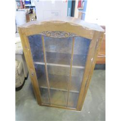 VINTAGE GLASS DOOR CABINET