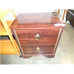 ASHLEY CHERRY FINISH 2 DRAWER NIGHTSTAND RETAIL $199