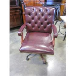 LEATHER STUDDED ROLLING OFFICE CHAIR