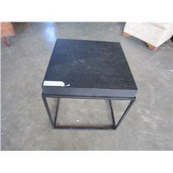 ASHLEY FLOOR MODEL METAL BASE MODERN END TABLE