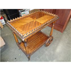 INLAID TEA TROLLEY