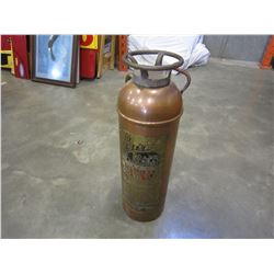 VINTAGE COPPER PYRENE FIRE EXTINGUISHER