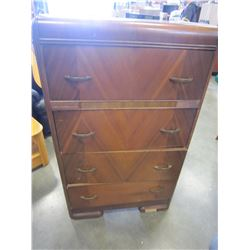 4 DRAWER WATERFALL HIGHBOY DRESSER