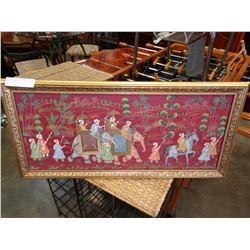 HAND PAINTED EAST INDIAN PICTURE