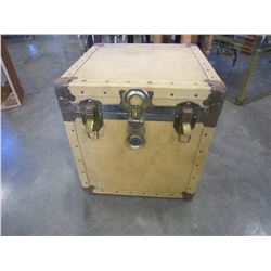 LEATHER BOUND SQUARE TRUNK