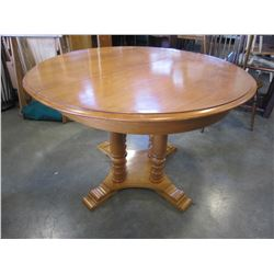 "48"" ROUND MAPLE 4 LEGGED OCCASIONAL TABLE"