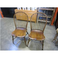 2 HOOP BACK CHAIRS