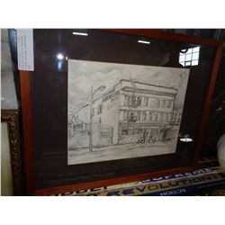 AMERICAN HOTEL BY BARBARA WILSON ORIGINAL LITHOGRAPH 1983
