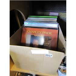 BOX OF RECORDS CHARLIE PRIDE GOLD ETC