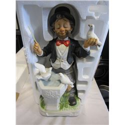 WILLIE THE CONDUCTOR HAND-PAINTED PORCELAIN MELODY IN MOTION FIGURE - AS NEW