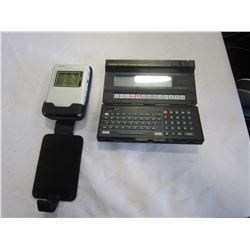 CASIO PB-1000 PERSONAL COMPUTER AND CREATIVE MP3 PLAYER IN CASE