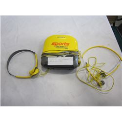 YELLOW SPORTS SONY DISCMAN W/ 2 SETS OF EARPHONES