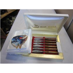 DANISH KNIFE SET AND RAINBOW REEF PLATE
