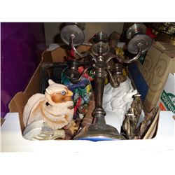 BOX OF DRAGON AND GRIFFON ITEMS, COLLECTOR PLATES, DECOR ITEMS, ETC