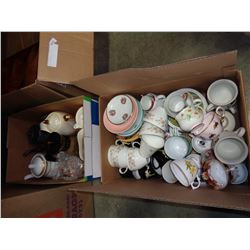 LOT OF COFFEE AND TEAPOTS, AND CUPS AND SAUCERS