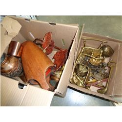LOT OF BRASS WARE