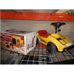 VINTAGE TONKA RIDE ON AND VINTAGE EASYBAKE OVEN