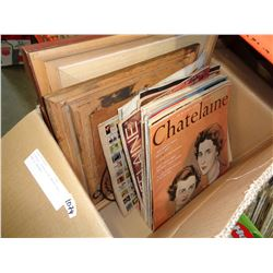 VINTAGE CHATELAINE MAGAZINES AND 2 PRINTS