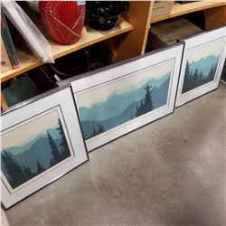 SET OF 3 MOUNTAIN PRINTS