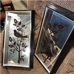 2 MIRRORED SHADOW BOX PRINTS