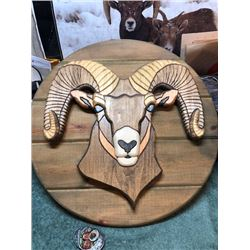 Bighorn Wood Carving