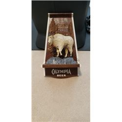 Antique Olympia Beer sign with Mtn Goat