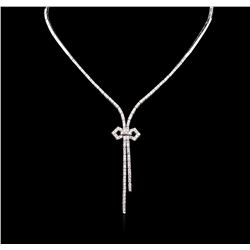 2.85 ctw Diamond Necklace - 14KT White Gold