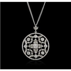 14KT White Gold 2.38 ctw Diamond Pendant With Chain