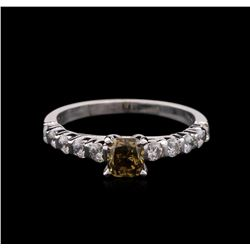 2.01 ctw Fancy Dark Brown Diamond Ring - 14KT White Gold